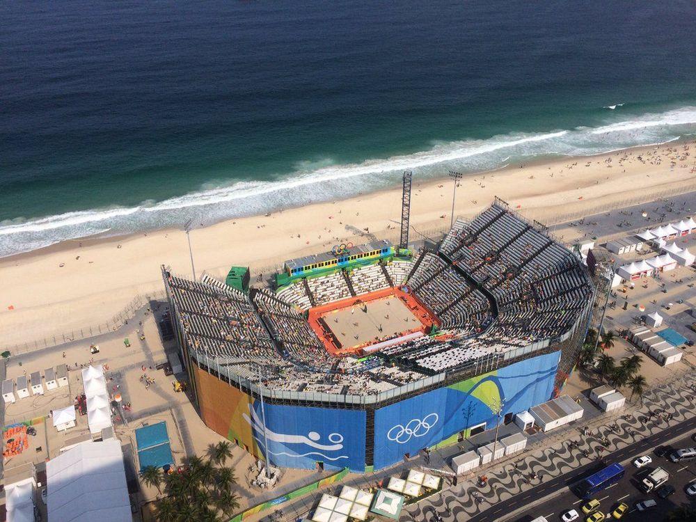 Arena do Beachvolleyball em Copacabana Rio2016.