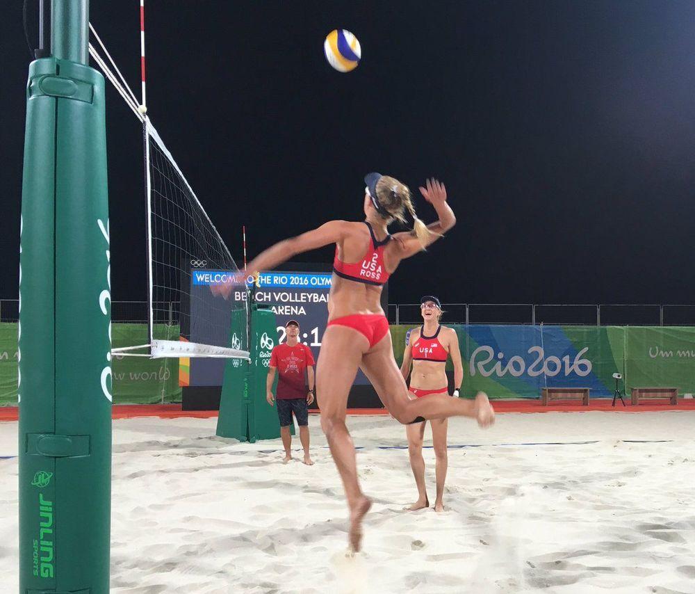 Dupla de vôlei de praia americana - Rio2016