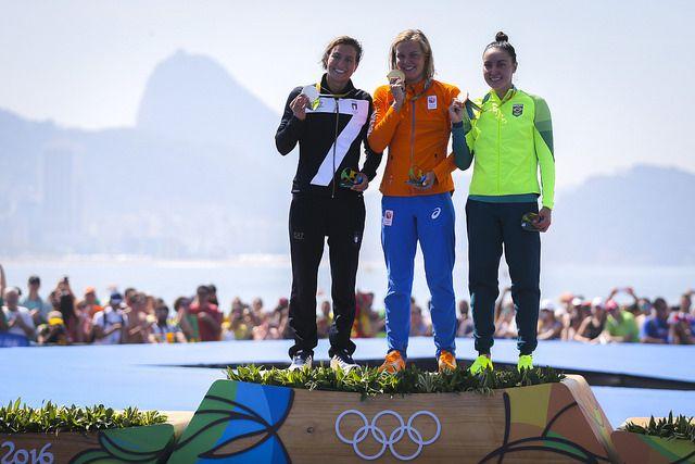 Pódio da Maratona Aquática Rio2016