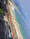 Bandeira na 21ª Parada do Orgulho LGBT Rio em Copacabana 2016
