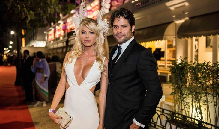 Carolina Bittencourt e Jorge Sestini no Baile do Copacabana Palace.