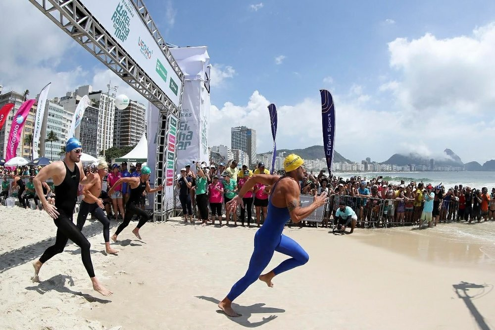 Largada Rei e Rainha do mar, dezembro 2017, Praia de Copacabana