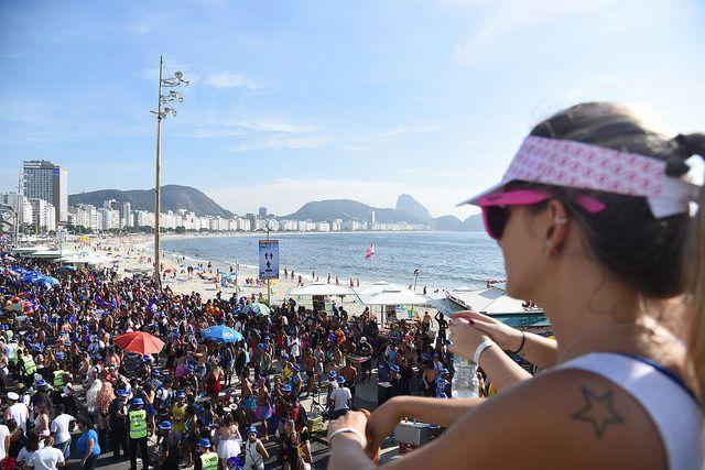 Bloco das Favoritas na Praia de Copacabana