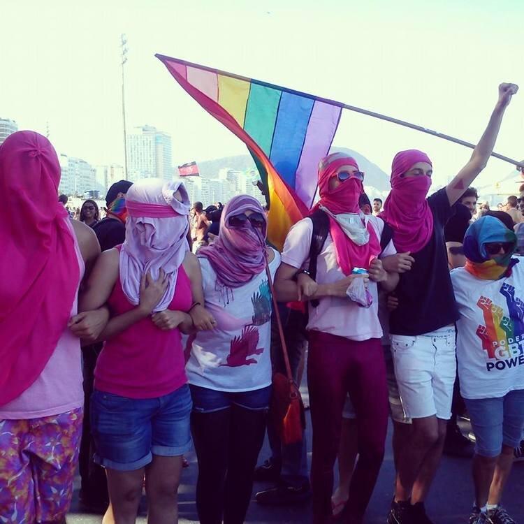Pinks Blocks na 18ª edição da Parada do Orgulho LGBT de Copacabana