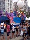 Trio elétrico na 20ª Parada LGBT de Copacabana