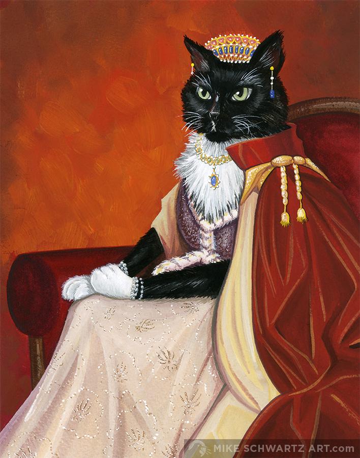 Mike-Schwartz-Illustration-Pet-Portrait-Queen-Cat.jpg