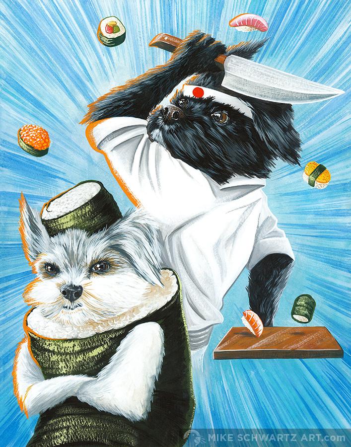Mike-Schwartz-Illustration-Pet-Portrait-Sushi-Dogs.jpg