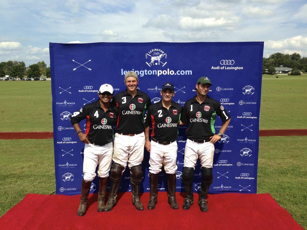 USPA Governors Cup Champions - Gainesway Farm  Jorge Vasquez, Andrew Beck, Bill Hilliard & Juan Valerdi