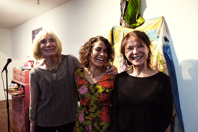 Poets from left: Mary Ann Taylor-Hall, Jacqueline Suskin, Cecilia Woloch (Photo by Nous Tous) April 29, 2017