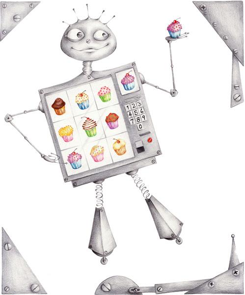 cupcake robot