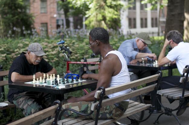 Washington Square Park NYC Chess players