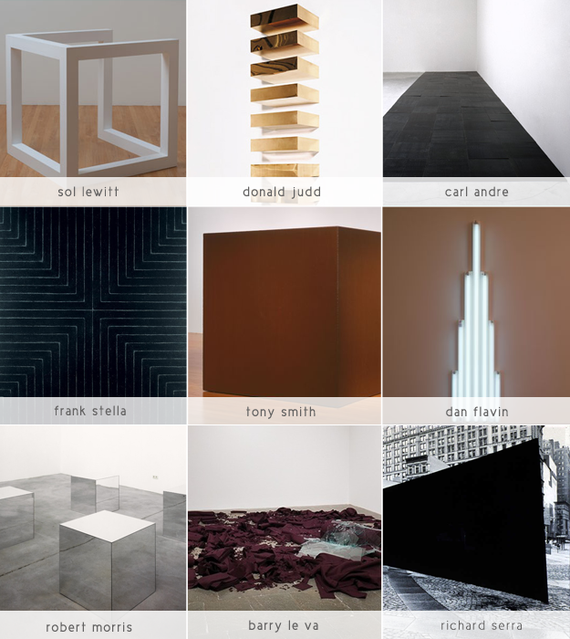 minimalism - Art One Oh One - Art History - Sandra Harris