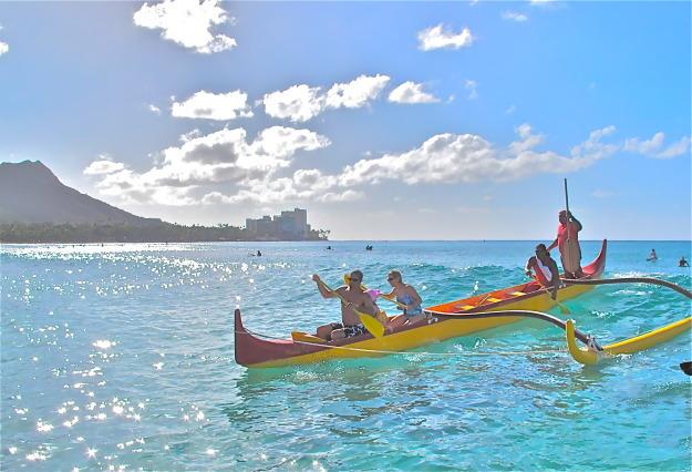 Oahu outrigger canoeing - Sandra Harris