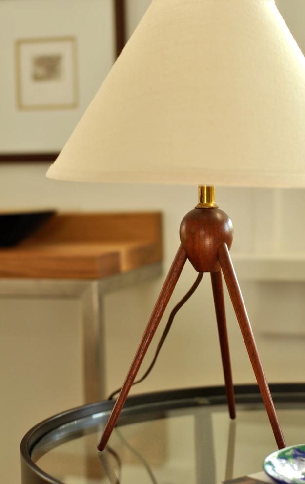 midcentury modern teak lamp vintage