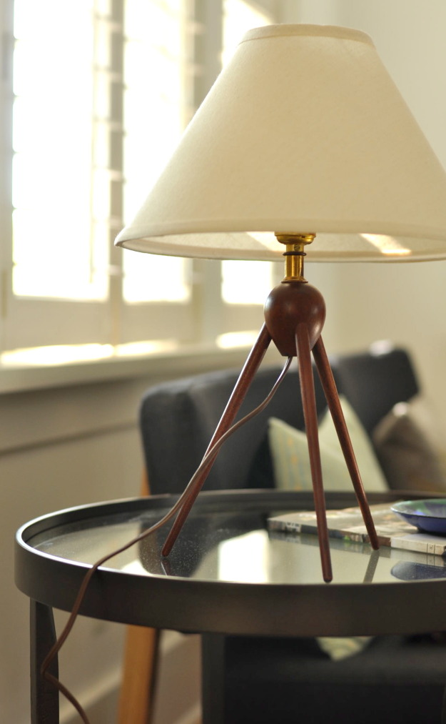 midcentury modern teak lamp