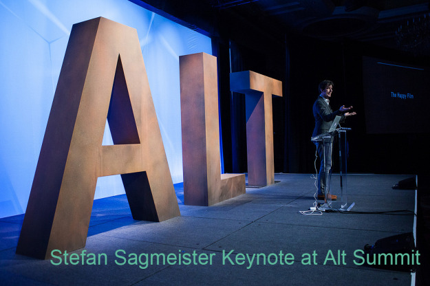 stefan sagmeister Alt Summit Keynote