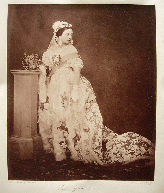 """Queen Victoria (1819-1901), Buckingham Palace"" by Roger Fenton, England, 1889 copy of 1854 original photo, from the Royal Collection Trust"