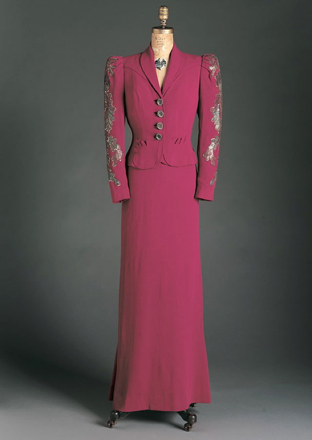 dress and jacket by Elsa Schiaparelli, spring 1938. source Phoenix Art Museum