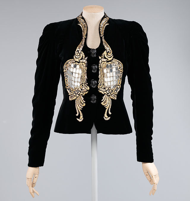 evening jacket by Elsa Schiaparelli, winter 1938-39. source Metropolitan Museum of Art