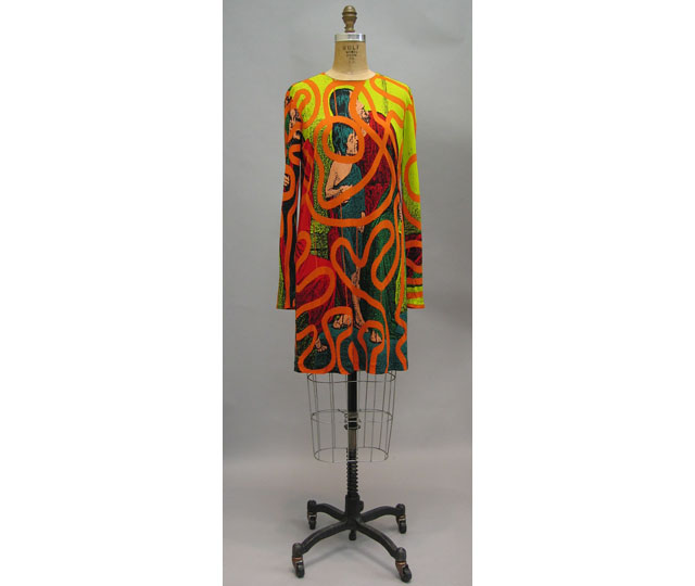 """Signature"" dress by Stephen Sprouse, 1988. from Metropolitan Museum of Art"