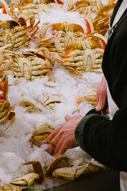 Pike Place Market, Seattle fresh crabs