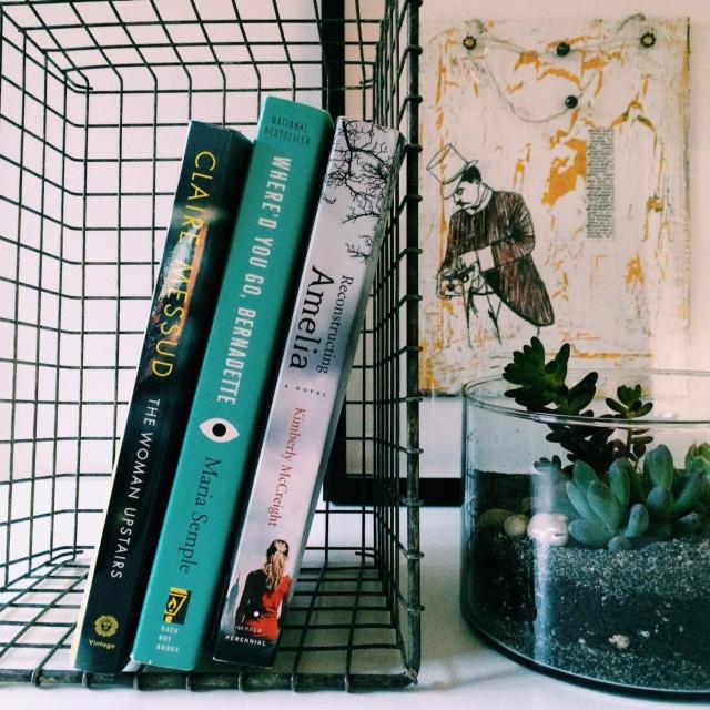 books vignette in the art studio