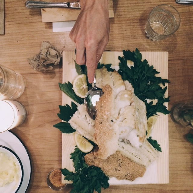 Kinfolk Dinner Salt Encrusted Cod - Sandra Harris