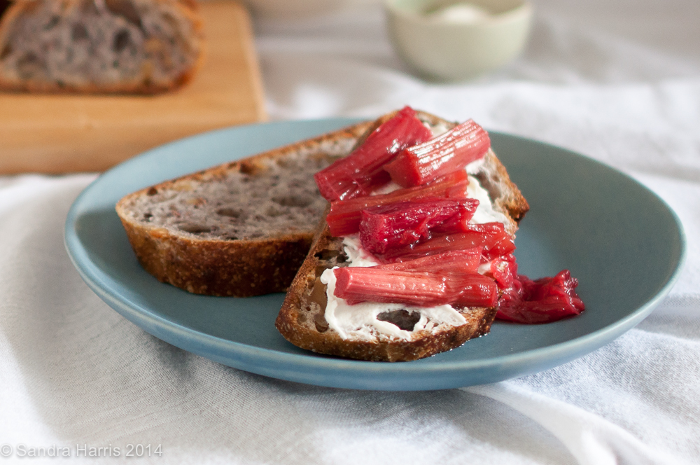Homemade Labneh with Rustic Rhubarb Jam - Sandra Harris