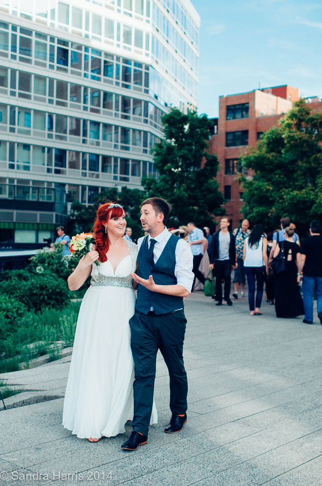 HIghline Park, NYC, Wedding Couple - Sandra Harris