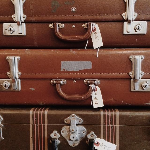 Wes Anderson, Nostalgia, vintage suitcases - Sandra Harris