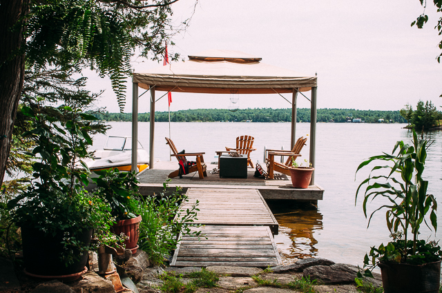 cottage dock stoney lake Sandra Harris
