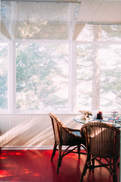 Muskoka room screened in porch cottage Sandra Harris