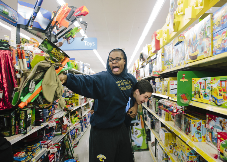 Joshua and Connor in Walmart, 2014, Bethlehem, PA, From the series, PART II