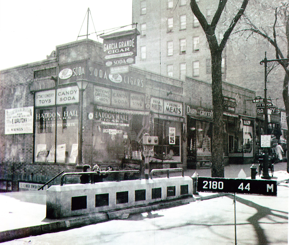 The original Frank's Market on 187th Street and Fort Washington Avenue