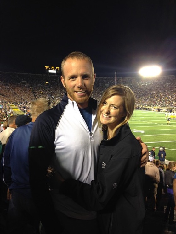 The first picture we ever took together - at a Notre Dame football game. He's a huge fan, and I'm part-Irish!