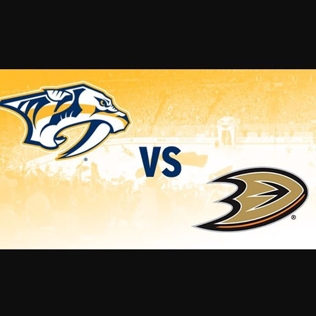 @anaheimducks v @predsnhl 5pm. Come get that happy hour until 8pm!