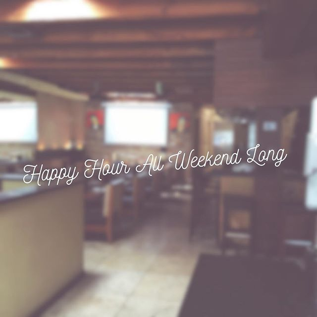 We love a long weekend! Join us on tonight, Saturday & Sunday for #happyhour & our famous weekly #trivia.