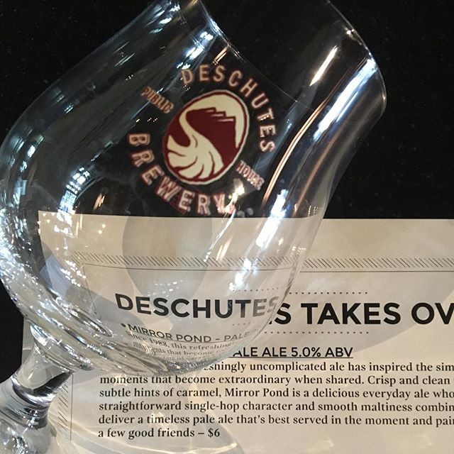 Sexy glassware. 23 of these glasses left. Get in herrrrrre. #barfoodla #happyhour #deschutesbrewery #taptakeover