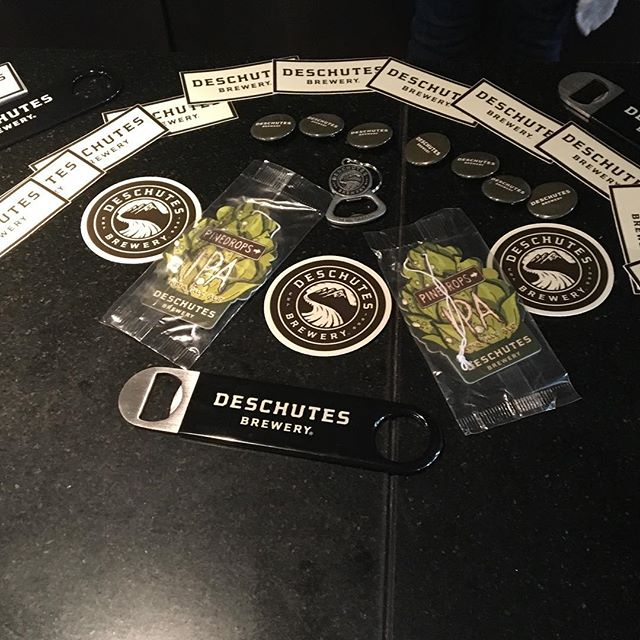 The swag is in the house! Deschutes takes over now!