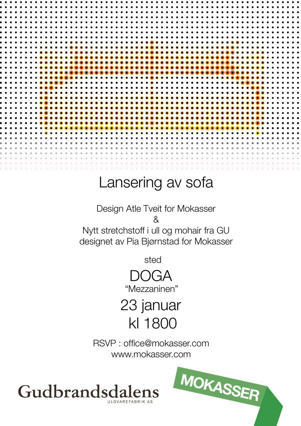 Lansering av sofa på DogA