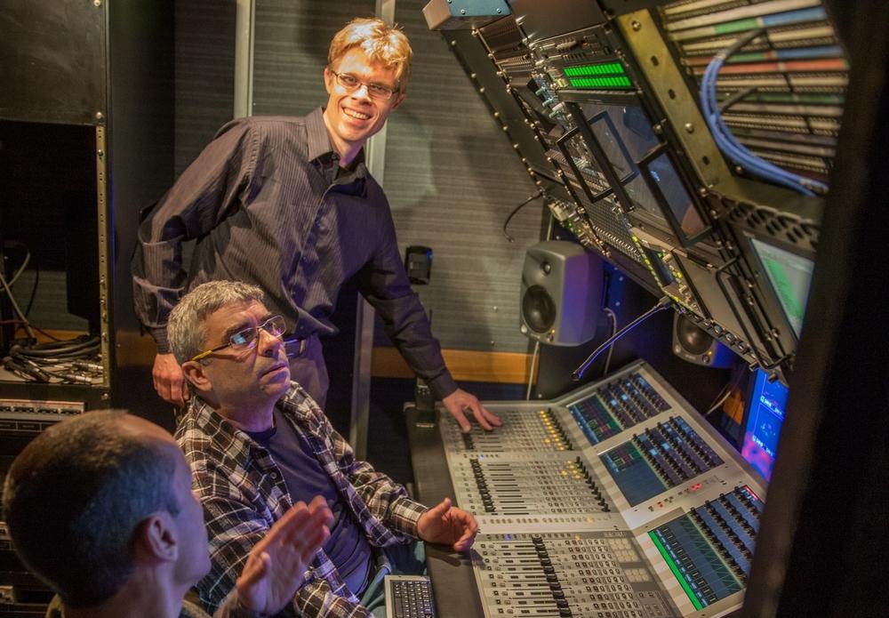 Audio control room in the OB Van