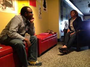 Screenwriter Moon Molson with mentor Autumn Canady