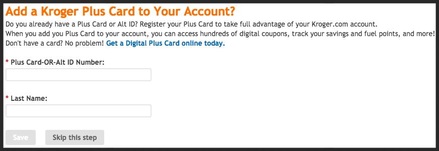 Click on Edit Kroger Community Rewards information and input your Kroger Plus card number or your Alternate ID.