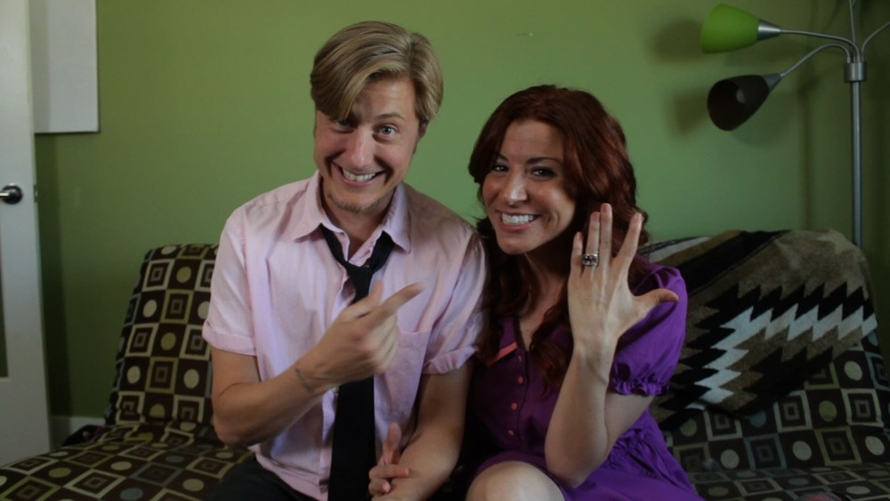 "Scott Turner Schofield and Jessica Lynn Johnson star in ""Ze Said She Said"""
