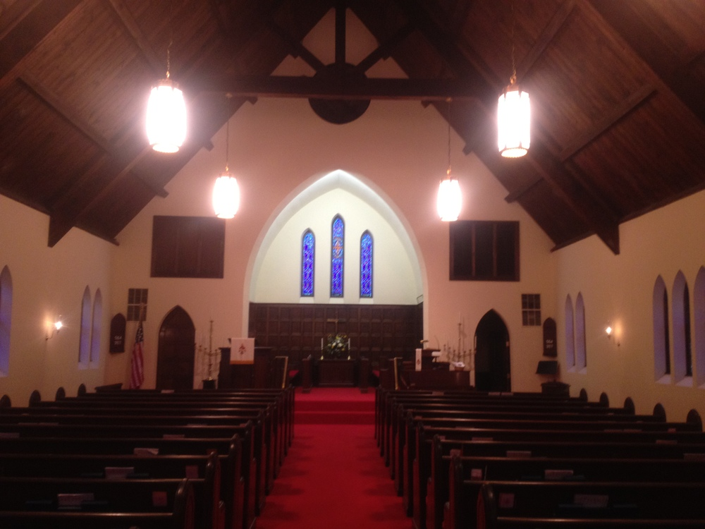 The inside of our historic sanctuary.