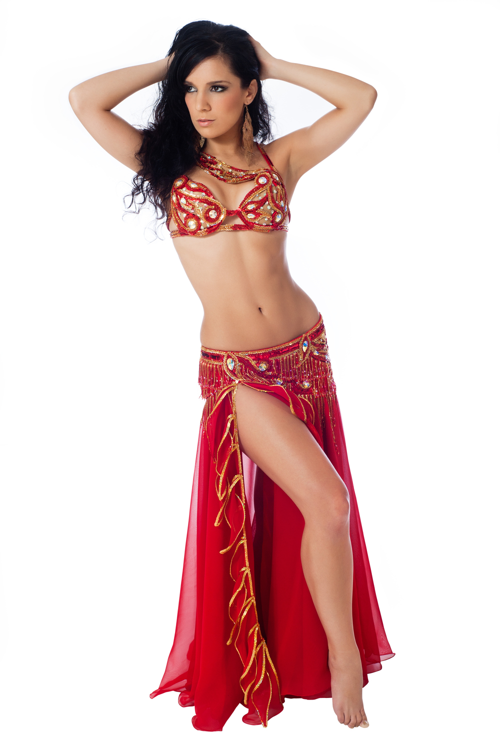 red bella costume belly dancer south florida