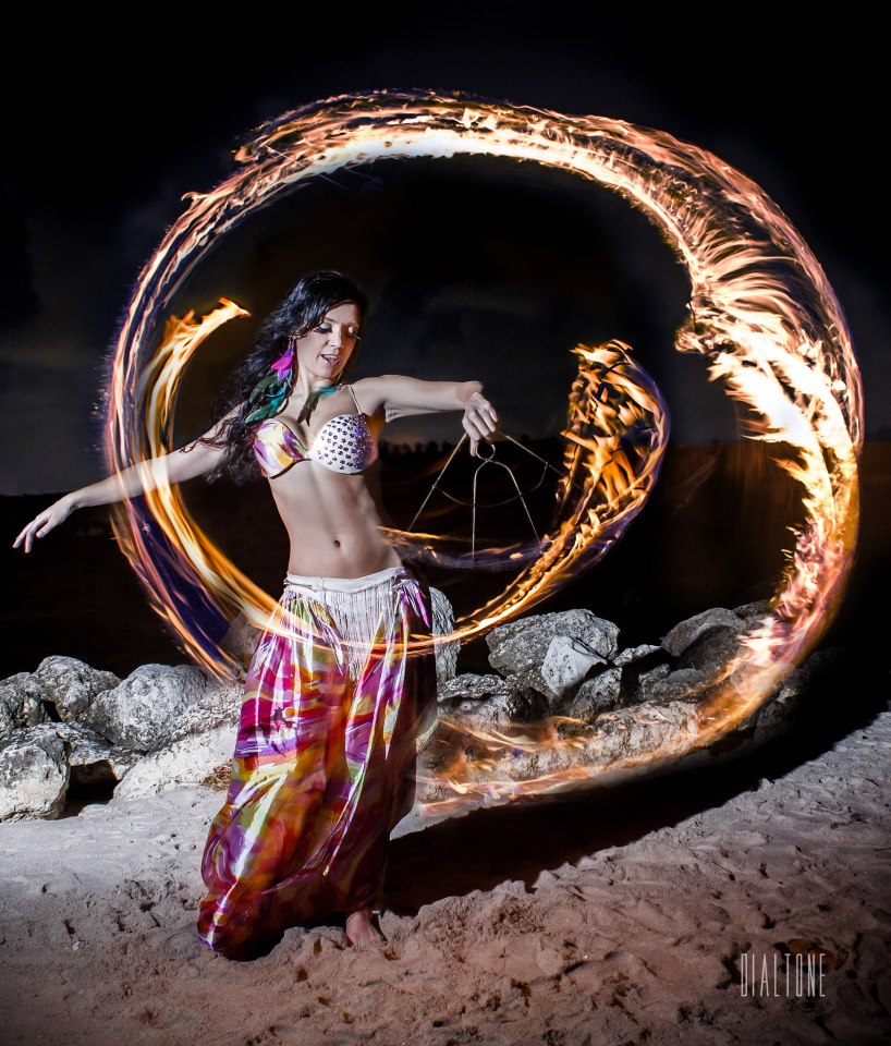 belly dancer fire dancer fire fans