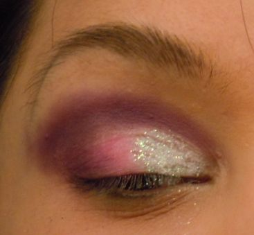 5- You can darken areas by applying a darker color over the glitter with a wet brush, but do slowly and carefully or you will color mattefy the glitter or make it come off. If you applying in the same color scheme I do, your eyelid is facing down anyways here so the glitter will not hit direct like which will darken it and give it the illusion of being a darker color even if it is not.