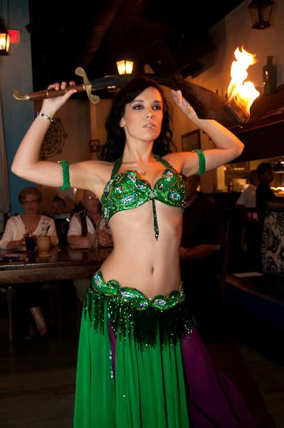 Green Paisley Passion Pharonics south florida fire belly dancer
