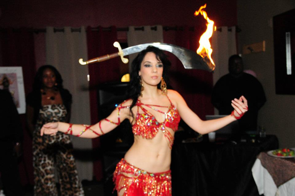 Red Lace Up Bella boynton beach florida belly dancer